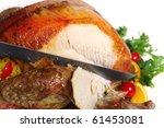 Side View Of A Stuffed Turkey...