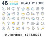 set  line icons in flat design... | Shutterstock . vector #614538335