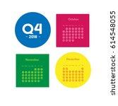 fourth quarter of calendar 2018  | Shutterstock .eps vector #614548055