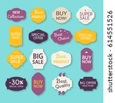 collection of sale discount... | Shutterstock .eps vector #614551526