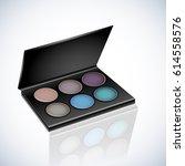 realistic vector makeup... | Shutterstock .eps vector #614558576