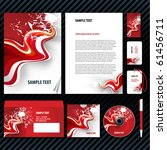 eps 10 template for business... | Shutterstock .eps vector #61456711
