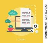 coding conceptual design | Shutterstock .eps vector #614569922