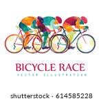 cycling race colorful... | Shutterstock .eps vector #614585228