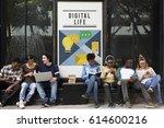 internet networking digital...   Shutterstock . vector #614600216