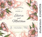 vintage wedding invitation or... | Shutterstock .eps vector #614604506