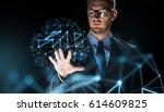 business  people  future... | Shutterstock . vector #614609825