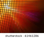Abstract  Red Light 3d Mosaic...