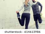 fitness  sport  training and... | Shutterstock . vector #614613986