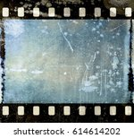 vintage scratched film strip... | Shutterstock . vector #614614202