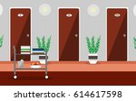 illustration hall or corridor...   Shutterstock .eps vector #614617598