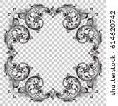 ornament in baroque style  | Shutterstock .eps vector #614620742