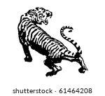 tiger   retro clip art   Shutterstock .eps vector #61464208