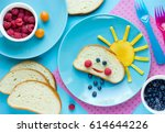 fun with food for kids funny... | Shutterstock . vector #614644226