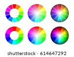 color wheel from 12 color rgb.... | Shutterstock . vector #614647292