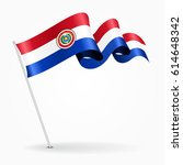 paraguayan pin icon wavy flag.... | Shutterstock .eps vector #614648342