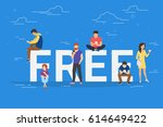 free commercial offers concept... | Shutterstock . vector #614649422