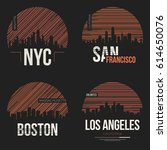 set of t shirt designs with us... | Shutterstock .eps vector #614650076