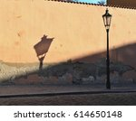 the old lantern with its shadow ... | Shutterstock . vector #614650148