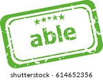 able word on rubber old... | Shutterstock . vector #614652356