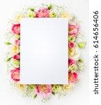festive flower concept  ... | Shutterstock . vector #614656406
