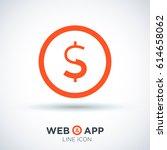 dollar sign financial line...   Shutterstock .eps vector #614658062