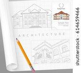 rchitect drew plan of building ...   Shutterstock .eps vector #614659466