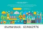 modern flat infographic ecology ... | Shutterstock .eps vector #614662976
