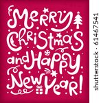 new year's inscriptions | Shutterstock .eps vector #61467541