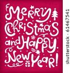 new year's inscriptions | Shutterstock .eps vector #61467541