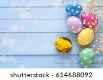 easter eggs  decorative...   Shutterstock . vector #614688092
