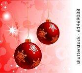 christmas vector background | Shutterstock .eps vector #61469038