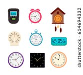 vector set of analog and... | Shutterstock .eps vector #614694332