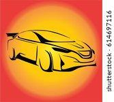sport car vector | Shutterstock .eps vector #614697116