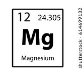 magnesium periodic table... | Shutterstock .eps vector #614699132