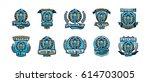 a set of logos  emblems of a...   Shutterstock .eps vector #614703005