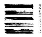 black vector brush strokes of... | Shutterstock .eps vector #614705642