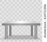 vector 3d table for object... | Shutterstock .eps vector #614711306