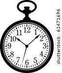Stock vector pocket watch 61471696
