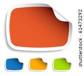 vector blank stickers | Shutterstock .eps vector #61473292