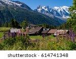 trelechamp chamonix haute... | Shutterstock . vector #614741348