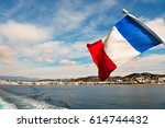 French Flag And Views Of Cannes