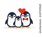 Cute Penguin Family. Penguin...