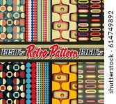 vector pattern set from the... | Shutterstock .eps vector #614749892