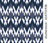 ikat seamless pattern design... | Shutterstock . vector #614751938