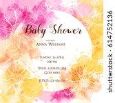 template for baby shower...   Shutterstock .eps vector #614752136