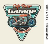 vintage race motorbike for... | Shutterstock .eps vector #614754386