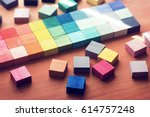 selection of colors. colorful ... | Shutterstock . vector #614757248