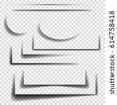 set of realistic paper sheet...   Shutterstock .eps vector #614758418