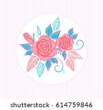 pillow or invitation card... | Shutterstock .eps vector #614759846